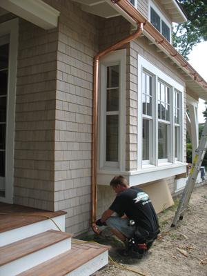 Copper Gutter Installation In Va Low Maintenance Gutters